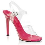 Roze 11,5 cm FABULICIOUS GALA-08 Hoge avond sandalen met hak
