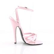 Roze 15 cm DOMINA-108 fetish schoenen met naaldhak