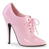 Roze 15 cm DOMINA-460 oxford high heels schoenen