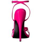 Roze 15 cm Devious DOMINA-108 sandalen met naaldhak
