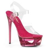Roze 16,5 cm ECLIPSE-608DM Sandalen met stiletto hak