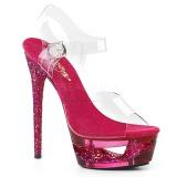 Roze 16,5 cm ECLIPSE-608GT Sandalen met stiletto hak