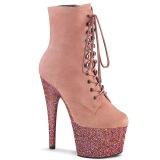Roze 18 cm ADORE-1020FSMG glitter exotic hakken - pole dance enkellaarzen