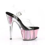 Roze 18 cm ADORE-708HGI Hologram plateau schoenen dames met hak