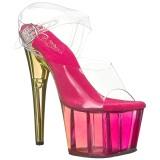 Roze 18 cm ADORE-708MCT Acryl plateau schoenen dames met hak