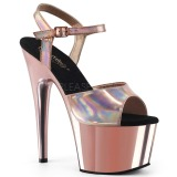 Roze 18 cm ADORE-709HGCH Hologram hoge hakken schoenen pleaser
