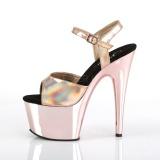 Roze 18 cm ADORE-709HGCH Hologram plateau schoenen dames met hak