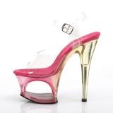 Roze 18 cm MOON-708MCT Acryl plateau schoenen dames met hak