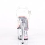 Roze 18 cm SKY-308WHG glitter plateau schoenen dames met hak