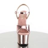 Roze 18 cm SKY-309 Chroom Plateau Hoge Hakken