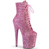 Roze 20 cm FLAMINGO-1020GWR glitter exotic hakken - pole dance enkellaarzen