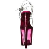 Roze 20 cm FLAMINGO-808T Plateau Sandalen met Acryl Hakken