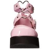 Roze 6 cm SPRITE-02 lolita schoenen met plateau