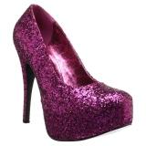 Roze Glitter 14,5 cm Burlesque TEEZE-06GW mannen pumps voor brede voeten