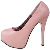 Roze Glitter 14,5 cm Burlesque TEEZE-31G Platform Pumps Schoenen