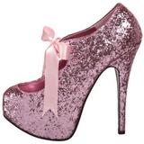 Roze Glitter 14,5 cm TEEZE-10G Platform Pumps Schoenen