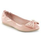 Roze IVY-09 ballerinas platte damesschoenen met parels