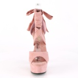 Roze Kunstleer 15 cm DELIGHT-679 hoge hakken met enkelband