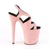 Roze Kunstleer 20 cm FLAMINGO-831FS sandalen met naaldhak