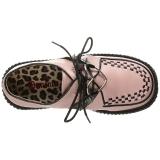 Roze Kunstleer CREEPER-206 Plateau Creepers Schoenen Dames