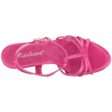Roze Lak 12 cm FLAIR-420 Dames Sandalen met Hak