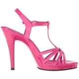 Roze Lak 12 cm FLAIR-420 Hoge Hakken voor Mannen