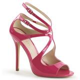 Roze Lak 13 cm AMUSE-15 Hoge Avond Sandalen met Hak