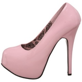 Roze Lak 14,5 cm Burlesque BORDELLO TEEZE-06 Plateau Pumps Hoge Hak