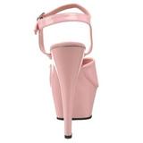 Roze Lak 15 cm Pleaser KISS-209 Plateau Hoge Hakken