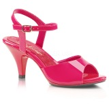 Roze Lak 8 cm BELLE-309 Dames Sandalen met Hak