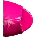 Roze Lakleer 10 cm QUEEN-100 grote maten enkellaarzen dames
