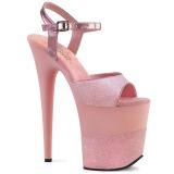 Roze Schitteren 20 cm Pleaser FLAMINGO-809-2G High Heels Plateau