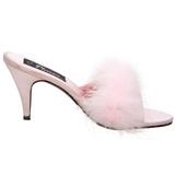Roze Veren 8 cm AMOUR-03 Hoge Mules Schoenen voor Mannen