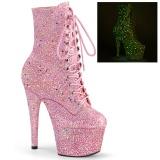 Roze glitter 18 cm ADORE-1020GDLG pole dance enkellaarzen met hoge hakken