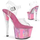 Roze plateau 18 cm SKY-308OF transparante hakken - pole dance schoenen