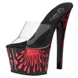 SKY-301-5 roze neon 18 cm plateau slippers dames met hak