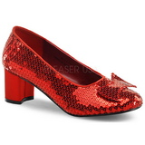Sequins 5 cm DOROTHY-01 Women Pumps Shoes Flat Heels