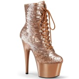 Sequins Gold 18 cm ADORE-1020SQ Exotic pole dance ankle boots