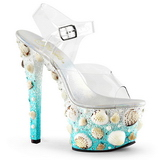 Shell 18 cm SKY-308MERMD High Heeled Sandal Shoes