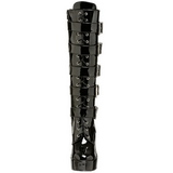 Shiny 13 cm ELECTRA-2042 buckle womens boots with platform