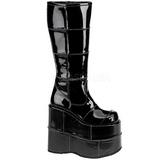 Shiny 18 cm STACK-301 Platform Mens Gothic Boots