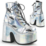 Silver 12,5 cm CAMEL-201 goth lolita ankle boots platform