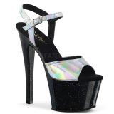 Silver 18 cm SKY-309HG Hologram platform high heels shoes