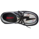 Silver CREEPER-218 Platform Women Creepers Shoes