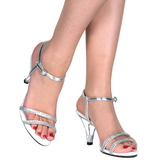 Silver Glitter 8 cm BELLE-316 Womens High Heel Sandals