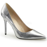 Silver Matte 10 cm CLASSIQUE-20 Pumps High Heels for Men