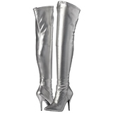 Silver Matte 13 cm SEDUCE-3000 Thigh High Boots for Men