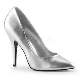 Silver Matte 13 cm SEDUCE-420 pointed toe pumps high heels