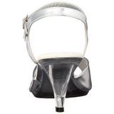 Silver Matte 8 cm BELLE-309 High Heels for Men