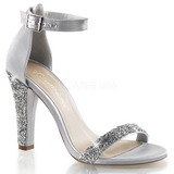 Silver Rhinestone 11,5 cm CLEARLY-436 High Heeled Evening Sandals